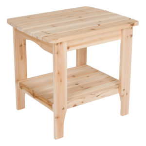 Indoor and Outdoor Wooden End Table